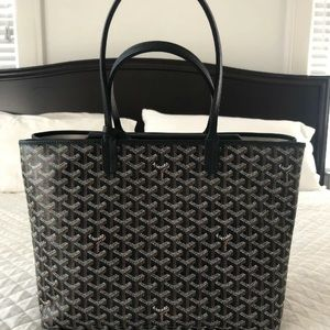 Goyard Isabelle Double Pocket Tote Bag Black/Black